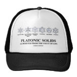 Platonic Solids As Derived From The Fruit Of Life Mesh Hats