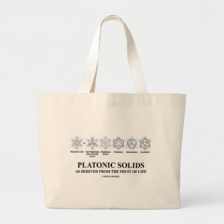 Platonic Solids As Derived From The Fruit Of Life Large Tote Bag