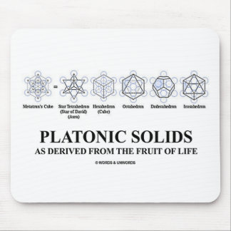 Platonic Solids As Derived From The Fruit Of Life Mouse Pad