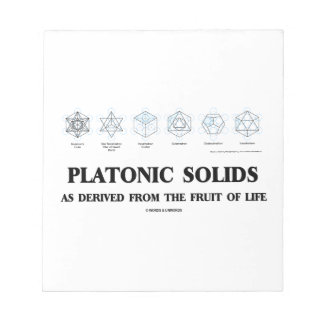 Platonic Solids As Derived From The Fruit Of Life Notepad