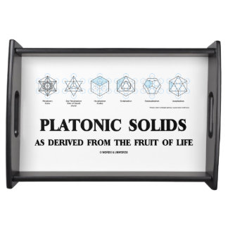 Platonic Solids As Derived From The Fruit Of Life Serving Tray