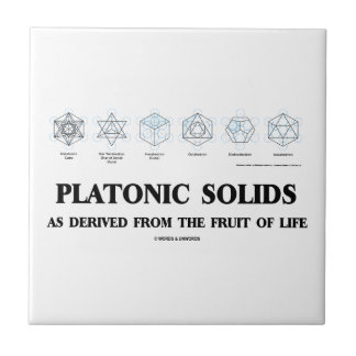 Platonic Solids As Derived From The Fruit Of Life Tile