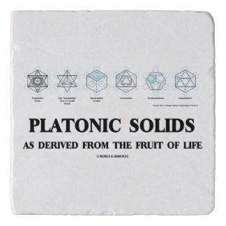 Platonic Solids As Derived From The Fruit Of Life Trivet
