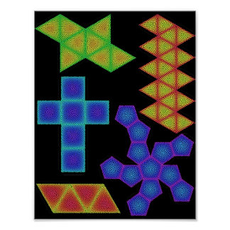 Platonic Solids Templates with Reaction-Diffusion Posters