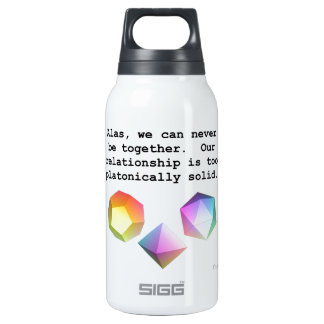 Platonically Solid 10 Oz Insulated SIGG Thermos Water Bottle