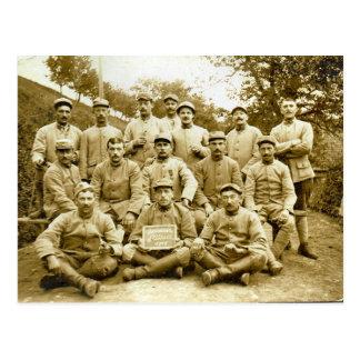 Platoon on Parade, Solder in World War I Postcard