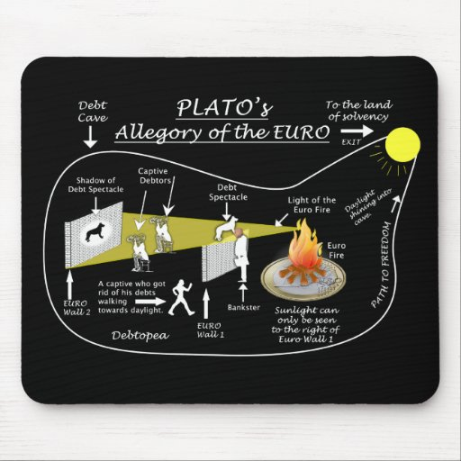 Plato's Allegory of the EURO Mouse Pad