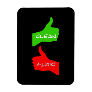 Platos limpios de los pulgares o sucios arriba/aba imán de vinilo