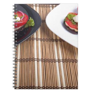 Platos vegetarianos hechos en casa de la berenjena libro de apuntes