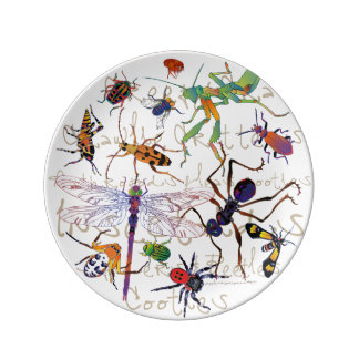 "Platr decorativo de la porcelana de ""Cooties"" Plato De Cerámica"