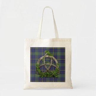 Platt Tartan And Celtic Trinity Knot Tote Bag
