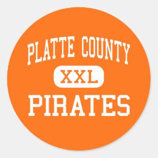 Platte County - Pirates - High - Platte City Classic Round Sticker