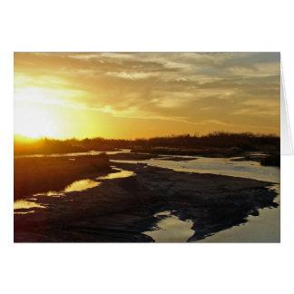 Platte River at Sunset Card