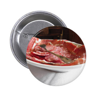 Platter of cold cuts 2 inch round button