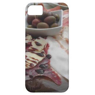 Platter of cold cuts with rustic ham prosciutto iPhone SE/5/5s case