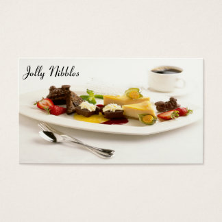 Platter Of Sweet Nibbles Business Card