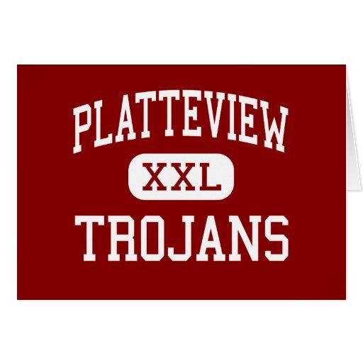Platteview - Trojan - alto - Springfield Nebraska Tarjeta De Felicitación