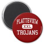 Platteview - Trojans - High - Springfield Nebraska Refrigerator Magnet