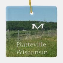 Platteville, Wisconsin Midwest Farm Christmas Ceramic Ornament