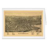 Plattsburgh, mapa panorámico de NY - 1899 Tarjetas