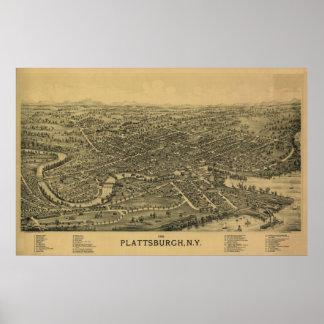 Plattsburgh NY, 1899: Impresión vieja Póster