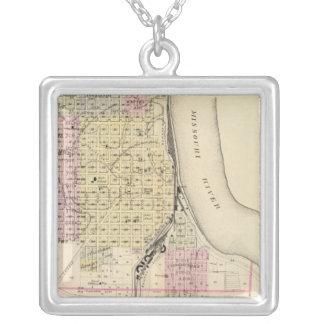 Plattsmouth, Nebraska Square Pendant Necklace