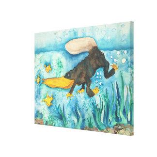 """Platty"" the Platypus by Mike Quinn Canvas Print"