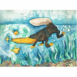 """Platty"" the Platypus by Mike Quinn Cutout"