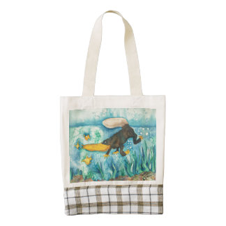 """""""Platty"""" the Platypus by Mike Quinn Zazzle HEART Tote Bag"""