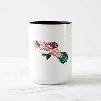 Platy Fish Two-Tone Coffee Mug