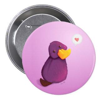 Platy Love 3 Inch Round Button