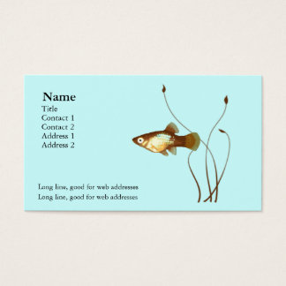 Platy on Blue Business Card