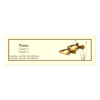 Platy Profile Card Double-Sided Mini Business Cards (Pack Of 20)