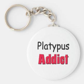 Platypus Addict Basic Round Button Keychain