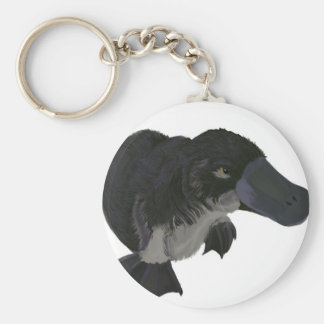 Platypus Basic Round Button Keychain