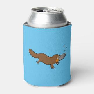 platypus cargado en cuenta pato lindo enfriador de latas