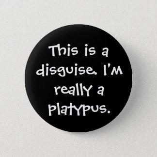Platypus Costume Pinback Button