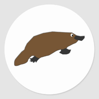 Platypus de KESS Pegatina Redonda