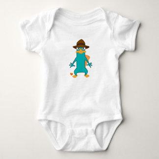 Platypus del agente P de Phineas y de Ferb en la Body Para Bebé