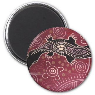 Platypus Dreaming Red by Mundara Koorang 2 Inch Round Magnet