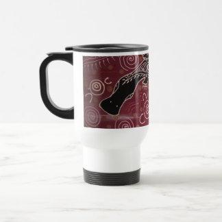 Platypus Dreaming Red by Mundara Koorang Travel Mug