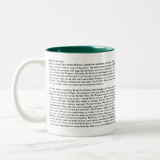 Platypus Dreaming with Dreamtime Story Two-Tone Coffee Mug
