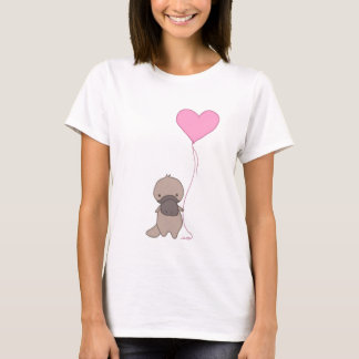 Platypus Holding Heart Balloon T-Shirt