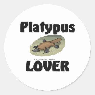 Platypus Lover Round Sticker