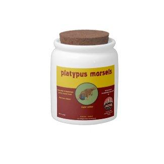 platypus morsels candy jar