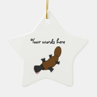 Platypus Double-Sided Star Ceramic Christmas Ornament