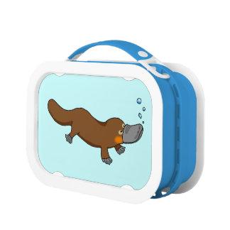 Platypus pato-cargado en cuenta dibujo animado