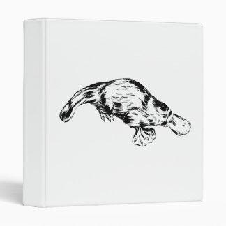 Platypus Realistic Black and White Illustration Binders