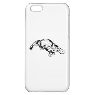 Platypus Realistic Black and White Illustration iPhone 5C Cases