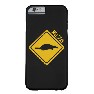 platypus road sign barely there iPhone 6 case